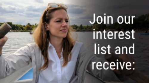 join our interest list and receive