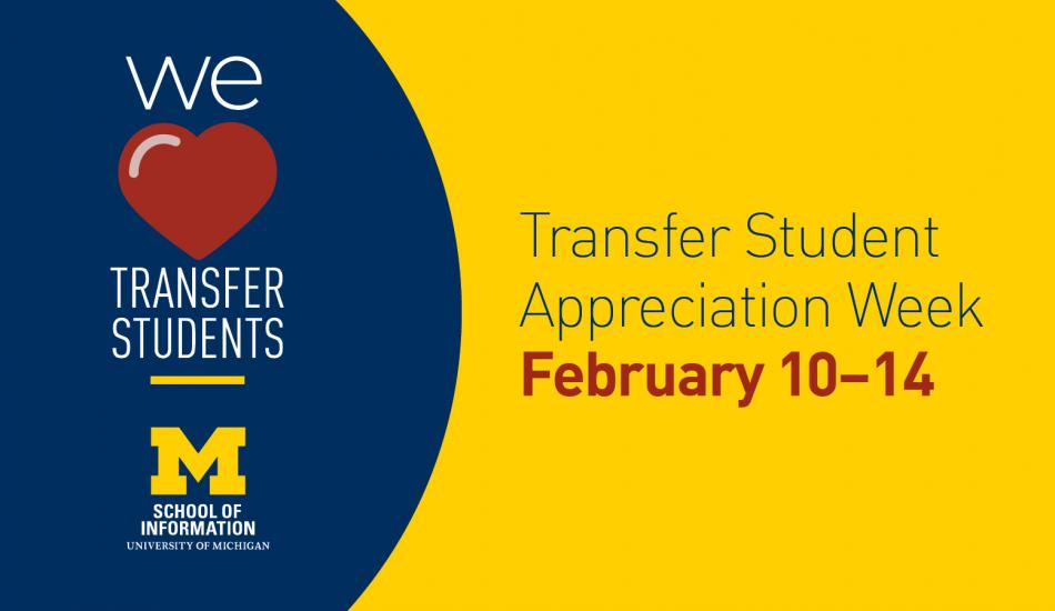 Transfer student appreciation week February 10-14
