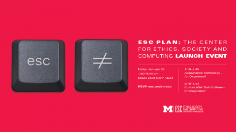ESC plan: Center for ethics, society, and computing launch event