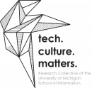 the tech.culture.matters. logo featuring an angular geometric shape containing many triangles.