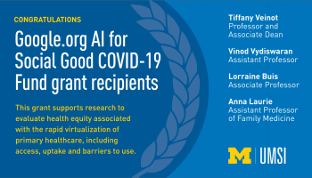 Congratulations Google.org AI for Social Good COVID-19 Fund grant recipients