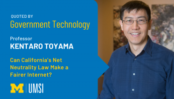Kentaro Toyama was quoted by Government Technology