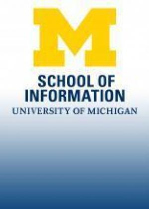 the UMSI logo, a placeholder